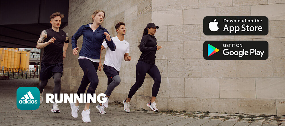 Start running: A woman in adidas clothes is a running beginner
